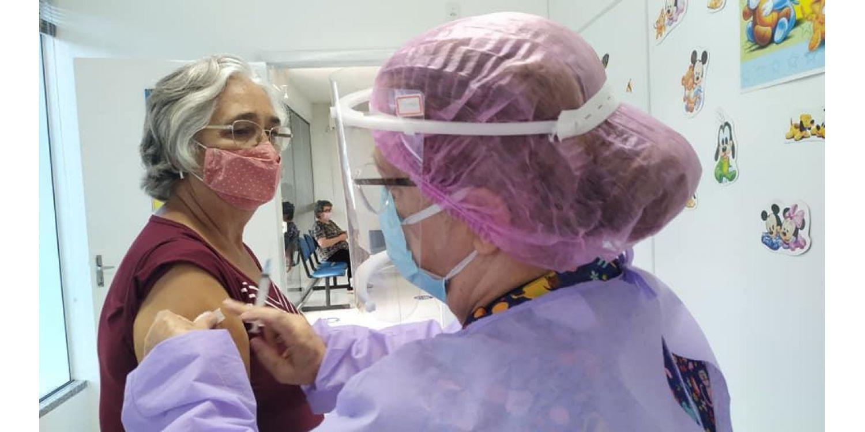 Sábado termina com 267 idosos vacinados contra a COVID em Ituporanga