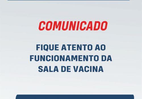 Sala de Vacina define rotina para atendimentos na vacinação contra Covid