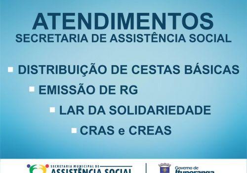 Secretaria de Assistência Social prioriza atendimentos com agendamento