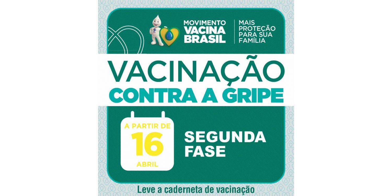 Segunda fase da campanha de vacinação inicia nesta quinta-feira,