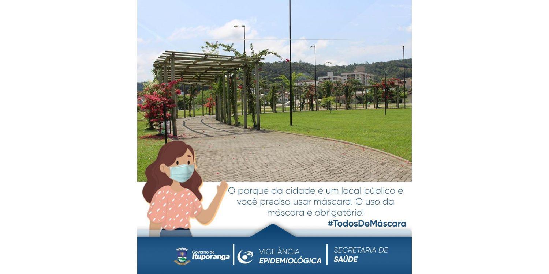 Uso de máscaras é obrigatório no Parque da Cidade